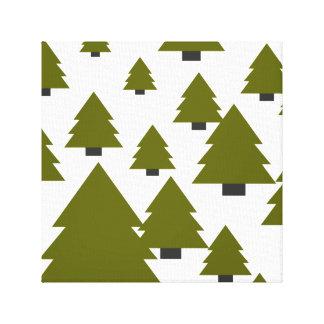 Gráfico da árvore de Natal Impressão Em Tela