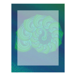 Gráfico da cerceta o azul e o verde do escudo panfleto coloridos