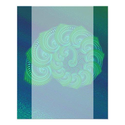 Gráfico da cerceta, o azul e o verde do escudo modelo de panfletos