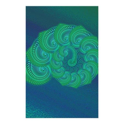 Gráfico da cerceta, o azul e o verde do escudo panfleto personalizados