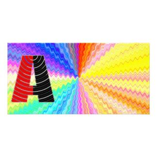 Gráfico de brilho da máscara n Art101 de Mettallic Cartão Com Foto