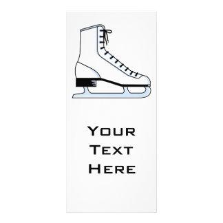 gráfico de vetor branco do skate de gelo planfetos informativos coloridos