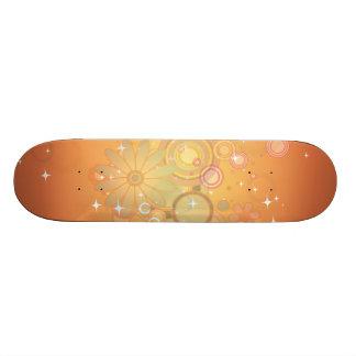 Gráfico de vetor colorido do teste padrão de flor skate boards