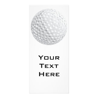 gráfico de vetor da bola de golfe panfleto informativo