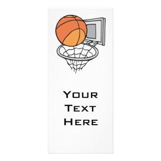 gráfico de vetor do basquetebol e da rede panfletos informativos personalizados