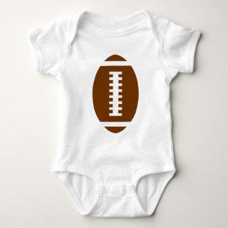 Gráfico dianteiro do futebol do branco | do BEBÊ Body Para Bebê