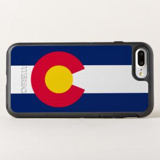 Gráfico dinâmico da bandeira do estado de Colorado Capa Para iPhone 8 Plus/7 Plus OtterBox Symmetry
