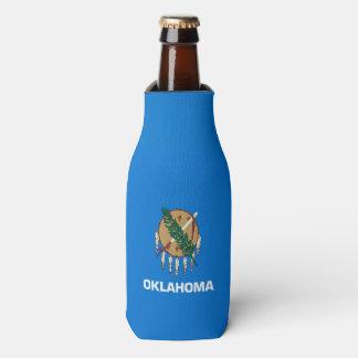 Gráfico dinâmico da bandeira do estado de Oklahoma Porta-garrafa