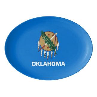 Gráfico dinâmico da bandeira do estado de Oklahoma Travessa De Porcelana