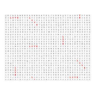 Gráfico do AMOR do quebra-cabeça da busca da Cartão Postal