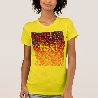 Gráfico do brilho do t-shirt