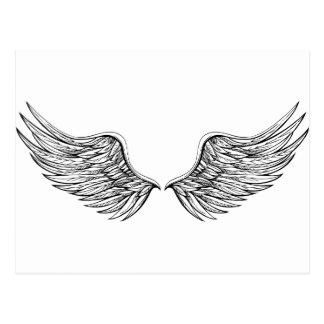 Gráfico do desenho da asa do anjo cartão postal