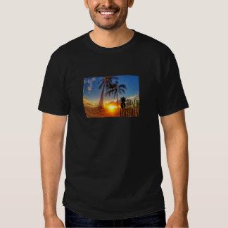 Gráfico do por do sol camiseta