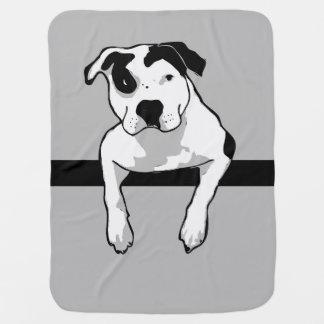 Gráfico do T-Osso do pitbull Cobertores Para Bebe