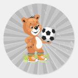 gráfico dos desenhos animados do urso de ursinho d adesivo redondo