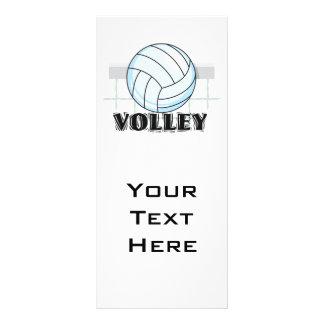 gráfico e texto do voleibol da salva panfleto informativo personalizado