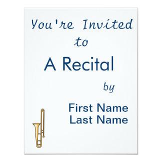 gráfico ereto do trombone convite personalizado