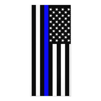 Gráfico fino de Blue Line em uma bandeira dos E.U.