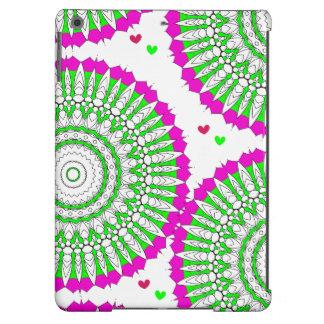 Gráfico floral abstrato fresco brilhante moderno capa para iPad air