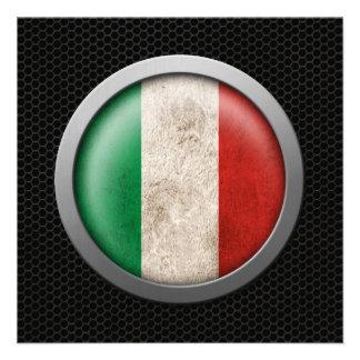 Gráfico italiano do disco da bandeira da malha de  convite