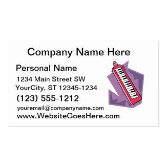 Gráfico portátil cor-de-rosa do piano do teclado 8 cartao de visita