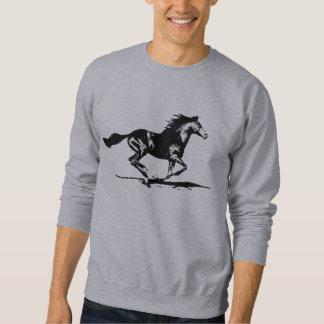 Gráfico preto do cavalo do garanhão moletom
