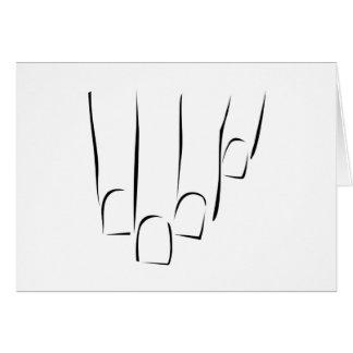 Gráfico que mostra o cuidado ou o manicure do cartão comemorativo