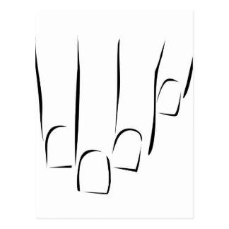 Gráfico que mostra o cuidado ou o manicure do cartão postal