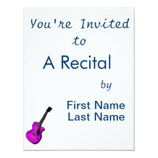 gráfico semi oco purple.png da guitarra convite personalizados