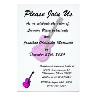 gráfico semi oco purple.png da guitarra convite personalizado