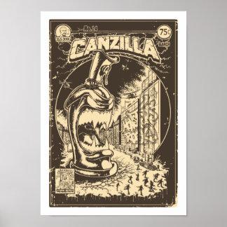Grafiteira CANZILLA - Retro SciFi monstro banda de