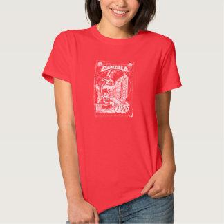 Grafiteira CANZILLA - Retro SciFi monstro banda Tshirt
