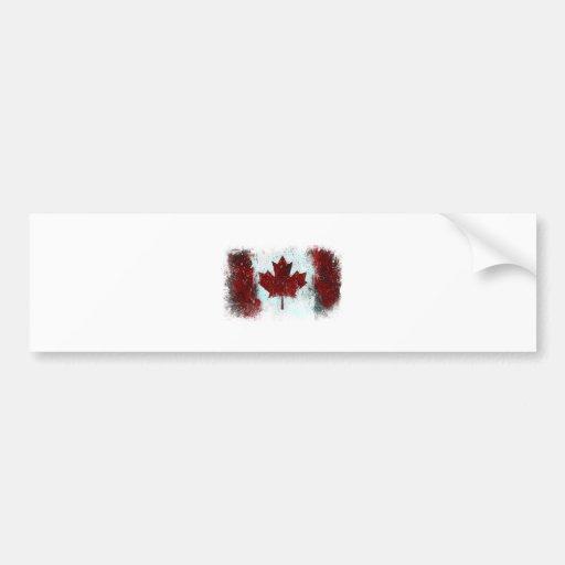 Grafites canadenses da bandeira adesivo