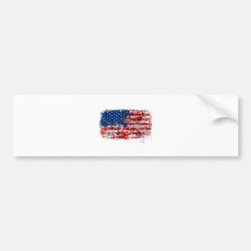 Grafites da bandeira americana adesivo
