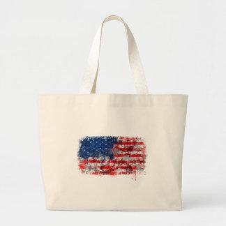 Grafites da bandeira americana bolsa para compras