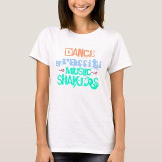 Grafites da dança camiseta