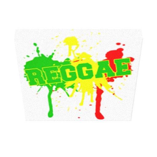 Grafites da música do homem do rasta da reggae de  impressão de canvas esticada