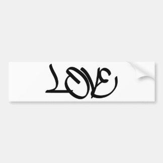 Grafites do amor adesivo para carro