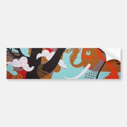 Grafites do elefante adesivo
