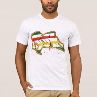 grafites do rasta camiseta