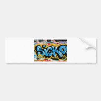 Grafites do Sicko na parede Textured Adesivo Para Carro