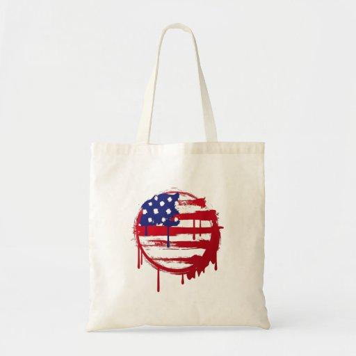 grafites dos EUA da bandeira americana Bolsa De Lona