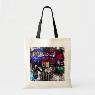 Grafites eu amo o saco da vida bolsas de lona