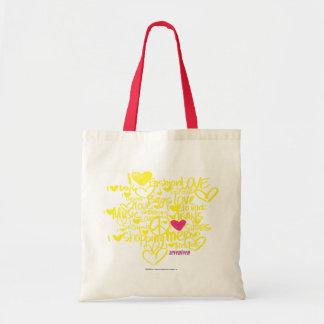 Grafites magentas/amarelo bolsas de lona
