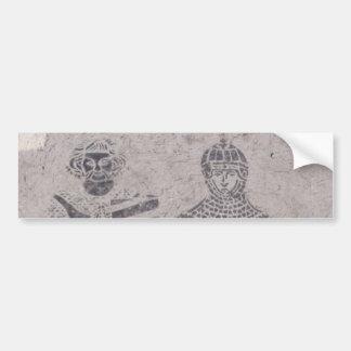 Grafites medievais dos cavaleiros adesivos