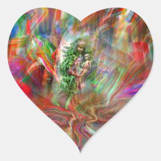 Grafitti Madonna Heart bordador Adesivo Coração