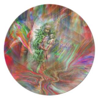 Grafitti Madonna Plate Prato