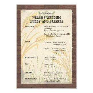 Grama do trigo do país em convites do pergaminho
