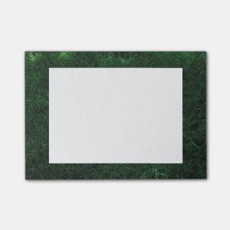 Grama verde bloco de notas