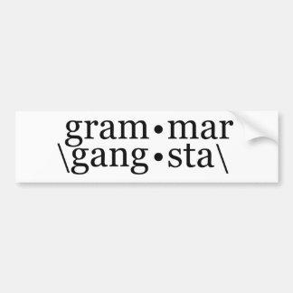 Gramática Gangsta Adesivo Para Carro
